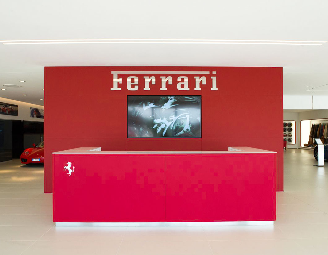 ARREDAMENTO SHOWROOM FERRARI by simone piva 04