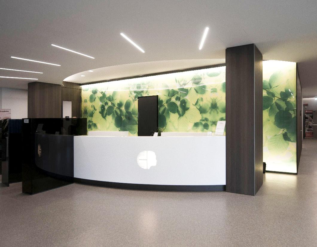 Realizzazione arredamento area reception by simone piva